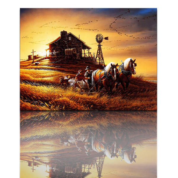 Online buy wholesale farm animal oil paintings from china for Selling oil paintings online