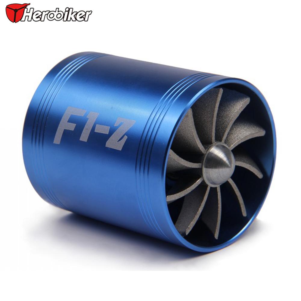 Blue Universal Car Fuel Gas Market Replacement Air Intake Flow Turbo Dual Fan + 3 Rubber Holder For Honda Hyundai Mazda Audi(China (Mainland))