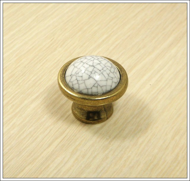 12PCS/DOZEN Cracks Ceramic Zinc Alloy Kitchen Cabinet Furniture Knob  (Diametre:38mm)<br><br>Aliexpress