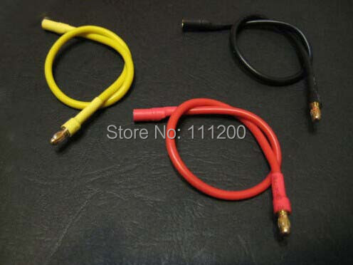 300mm 30cm 3.5mm Gold Bullet Banana RC Brushless Motor ESC Connectors Extension Cable Wire 16 awg(China (Mainland))