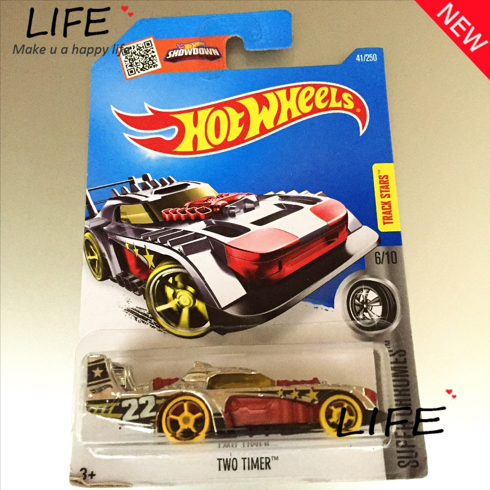 2016 Free Shipping Hot Wheels Red Two Timer Car Models Metal Diecast Cars Collection Kids Toys Vehicle For Children Juguetes 40(China (Mainland))