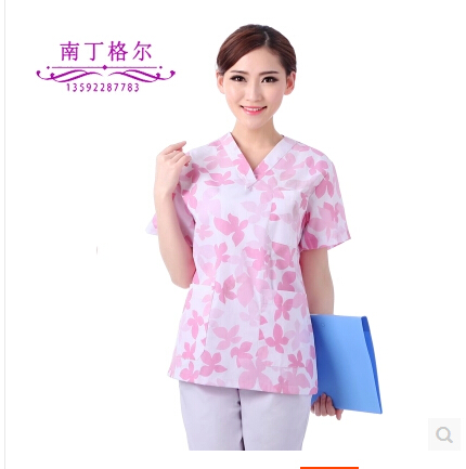 Platinum Janin series-long sleeve floral printed cotton undergarments, suits-operating room supplies scrubbing clothes gown(China (Mainland))