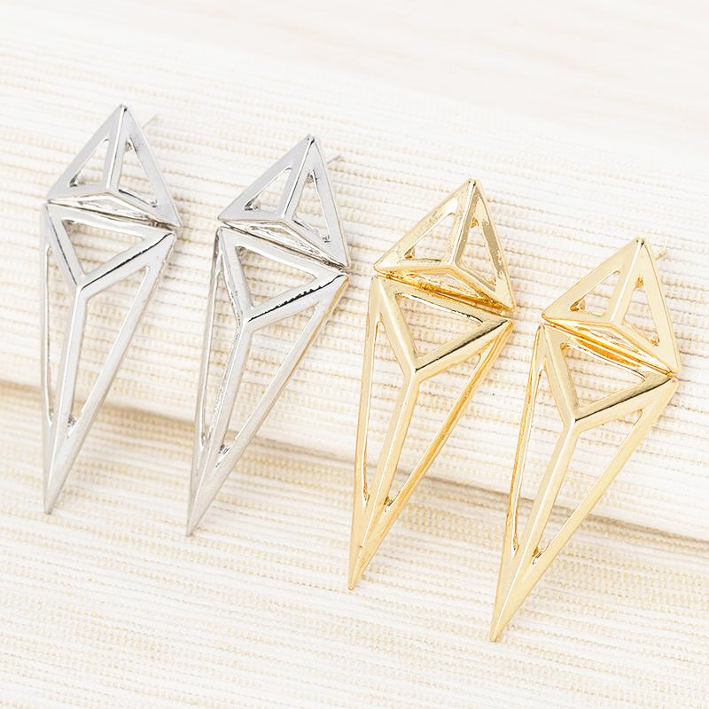 New Fashion Vintage Geometric Earrings Triangle Jewelry Logo Triangle Geometric Stud Earrings Jewelry For Women<br><br>Aliexpress