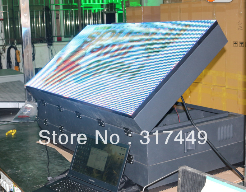 "P10 full color double side outdoor led advertising signs128cm x 64cm,50.4"" x 25.2"",RGB outdoor advertising led display screen(China (Mainland))"