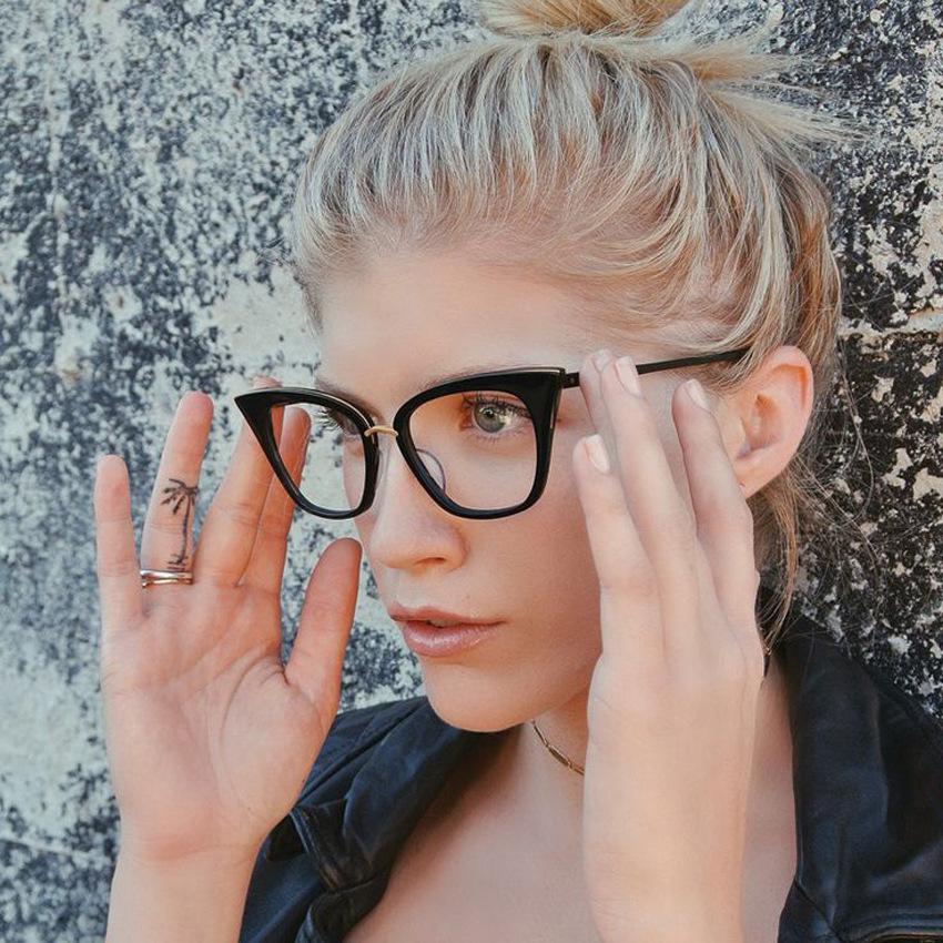vazrobe cat eye womens glasses eyeglasses for women designer eyeglass frame grade view cateye frames clear