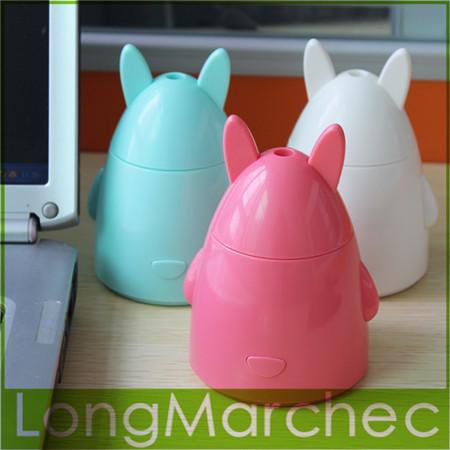 Cute Mini Rabbit Shape 80ml Water Capacity USB DC 5V Aroma Atomizer & Ultrasonic Air Humidifier For Home Office Computer PC Use(China (Mainland))