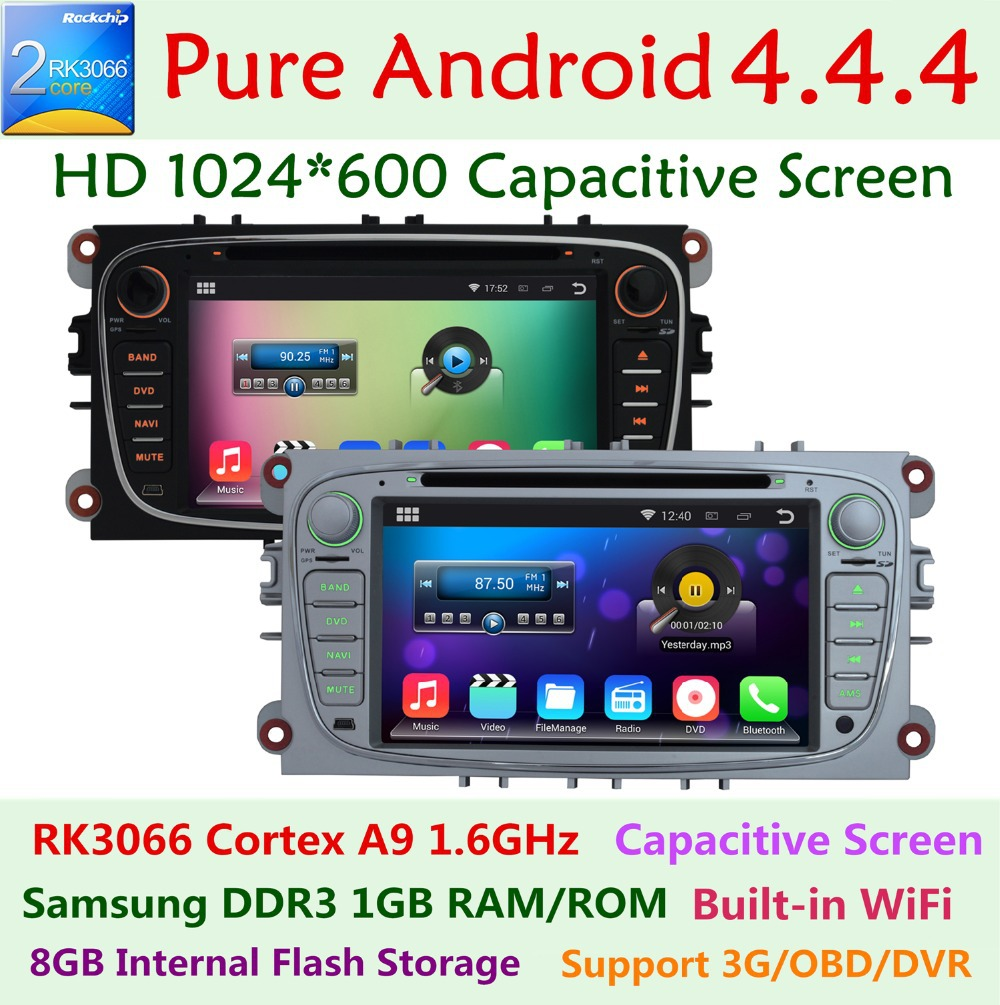1024*600 7'' Android 4.4 Car DVD For ford Mondeo Focus S MAX C MAX Galaxy Kuga 2007 2008 2009 2010 2011 GPS 3G WIFI BT Radio USB(China (Mainland))