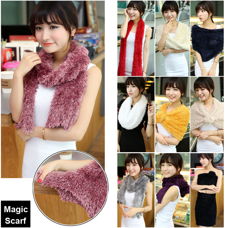 1pc/lot Retail Top Hot Solid Taiwan Magic Scarves Women DIY Shawls Pashmina Multi Function Scarves(China (Mainland))