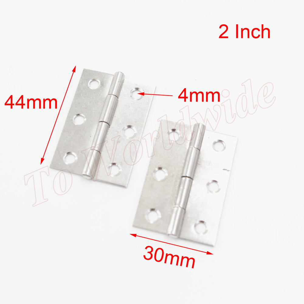 "Free Shipping 50pcs/Lot Cabinet Door Hinges 2"" Stainless Steel Butt Hinge(China (Mainland))"