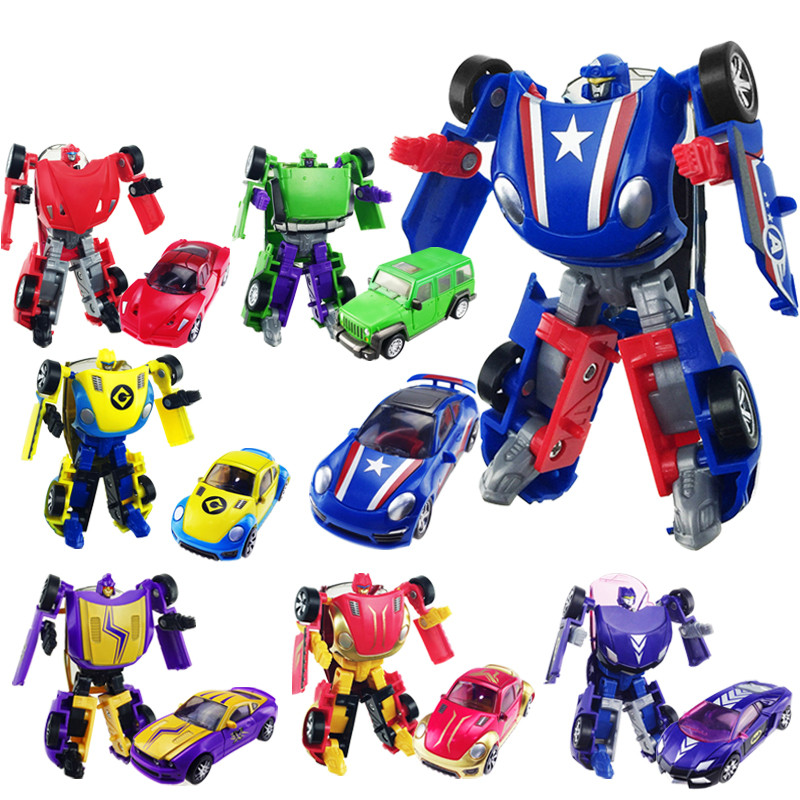 New Arrival Super Cool Cars Transformation Plastic Robots Minifigures Action Figure Toy Children Birthday Gifts Brinquedos(China (Mainland))