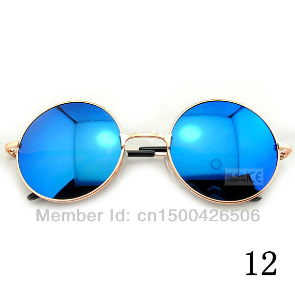 Free Shipping! 2015 Fashion New Goggles Women Lady Retro Summer Shade Round Style UV400 Sunglasses 120-0011