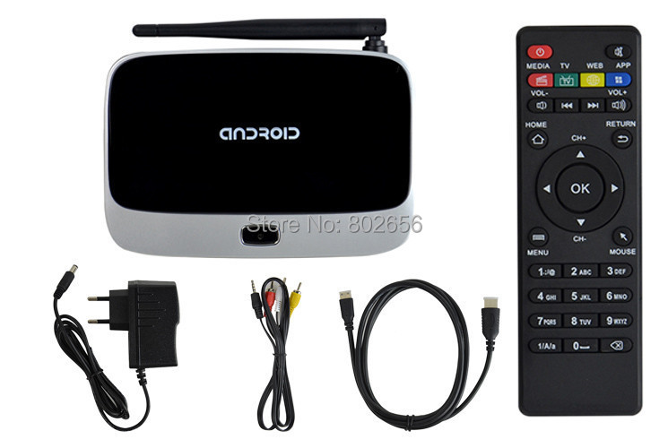 Android TV Box Fully Load Android TV Box Quad Core Bluetooth 1G/ 8G Smart tv box Full HD Media Player(China (Mainland))