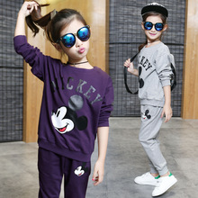 Buy Children girls clothing set spring autumn Mickey hoodie pants two pieces kids sport suit kids clothes tracksuit girls clothes for $21.00 in AliExpress store