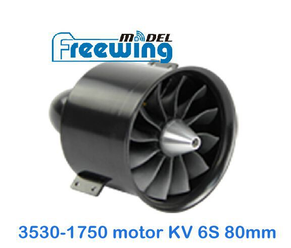 Freewing metal 80mm Ducted fan 12 blades 3530-1750 KV brushless motor 6S A6 F86 scorpion mirage 2000 jet plane F-86 A-6 - RC model land store