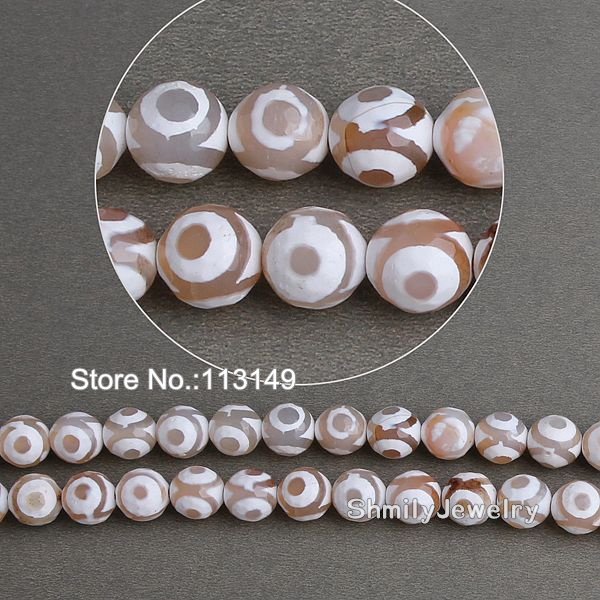 Free Shipping 10mm Round Semi Precious Stone Approx 37granules/piece White Evil Eye Onyx Beads For DIY Necklace PBS-A1021<br><br>Aliexpress