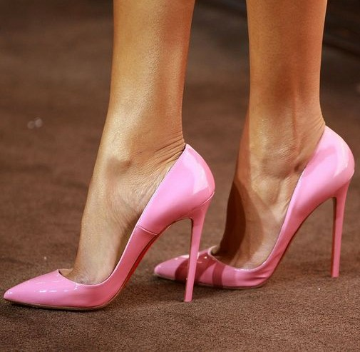 Pink Pointy Heels