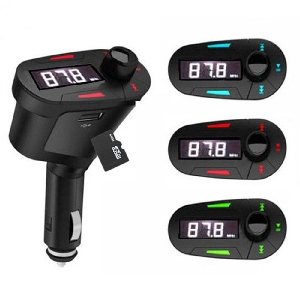 Car MP3 & FM Transmitters 3 Colors Car Kit MP3 Player Wireless FM Transmitter Modulator LCD USB SD MMC with Remote Control(China (Mainland))