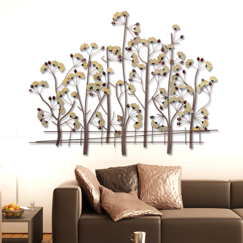Здесь можно купить  Iron ginkgo tree wall hangings decorative wall hangings home hotel wall creative living room wall hanging decoration  Мебель