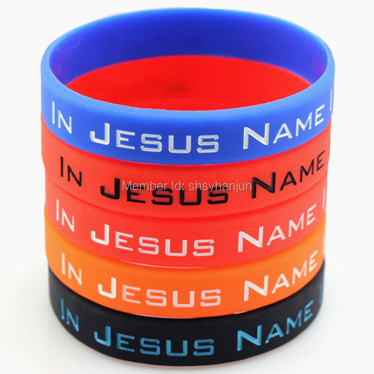 500pcs IN JESUS NAME I PLAY wristband silicone bracelets Curry free shipping by FEDEX(China (Mainland))