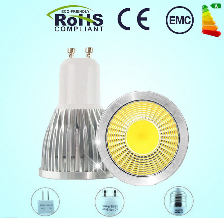 1pcs high power GU10 E27 E14 MR16 Dimmable 9W 12W 15W LED COB spotlight lamp bulb warm cool white 110V 220V LED lighting(China (Mainland))