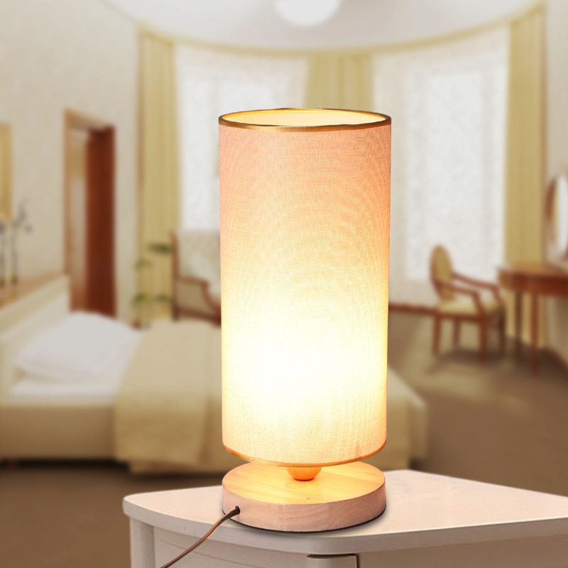 The New 2015  Wood Table Lamp And Cloth Lanterns Students In The Small Desk Lamp That Shield An Eye<br><br>Aliexpress