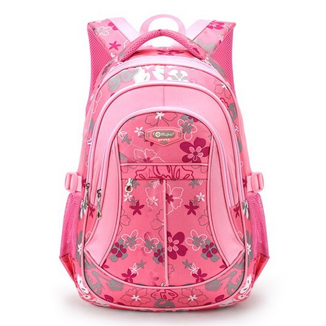 JIARUO Floral Printed Oxford Women School Backpack For Girl Children Teenager Back to School Student Bag For Book Laptop Ipad