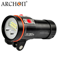 ARCHON D37VP/ W43VP LED diving video light 5200LM underwater diving flashlight uv/ red scuba photography light 100m waterproof(China (Mainland))