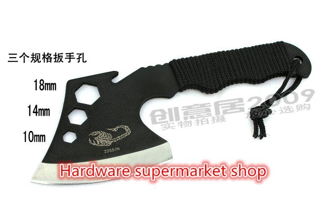 Buy Brand new High quality Stainless Steel Portable Outdoor Survival Tools Camping Knife Axe tactical tomahawks Survival multi tool cheap