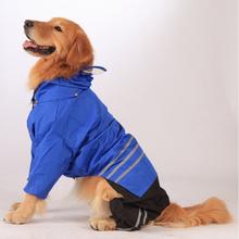 Горячая распродажа гонконг дизайн Pet одежда все сезон полосой непроницаемые Perros XL большой Pet плащ для большой золотой Retreaver собак