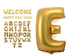 "Biggest Size 40"" Silver/Gold Alphabet A-Z 26 Letters Balloon Wedding Party Decoration Happy New Year Decoration high Quality(China (Mainland))"