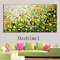 Hand Painted Knife Flower Oil Painting Hang Picture Modern Wall Paintings On Canvas Landscape Pictures For