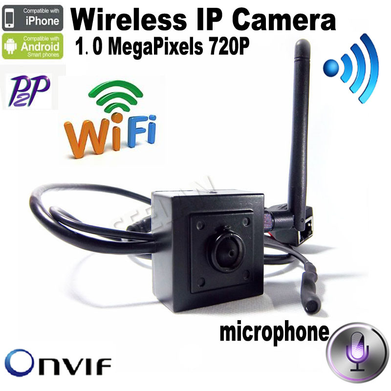 720P H.264 Onvif mini ip camera wifi HD Wifi IP Camera Wireless P2P Plug Play 3.7mm pinhole lens support microphone - Shenzhen Seelan Electronics Co. Ltd. store