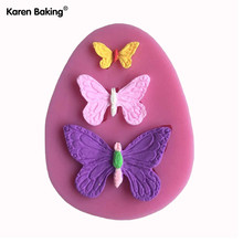 3D Silicone Mold Butterfly Shapes Mould 3 Cavities For Soap,Candy,Chocolate,Ice,Cake -C021(China (Mainland))