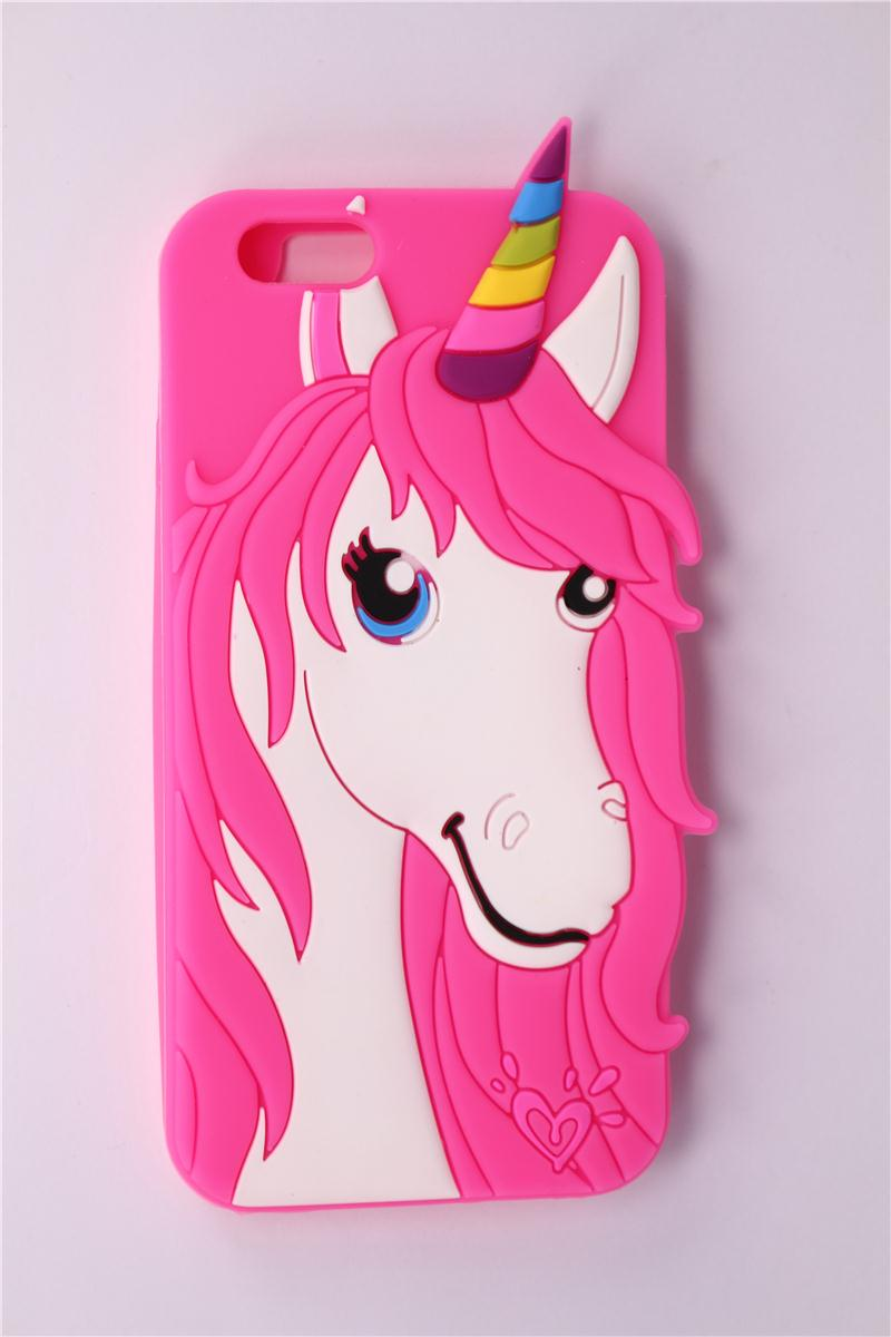 Horse Shape Phone Case iPhone 6 Plus 2015 New Arrive Cute Cartoon Rose Red Unicorn Pattern Soft Silicone Back Cover Shell - Angel store