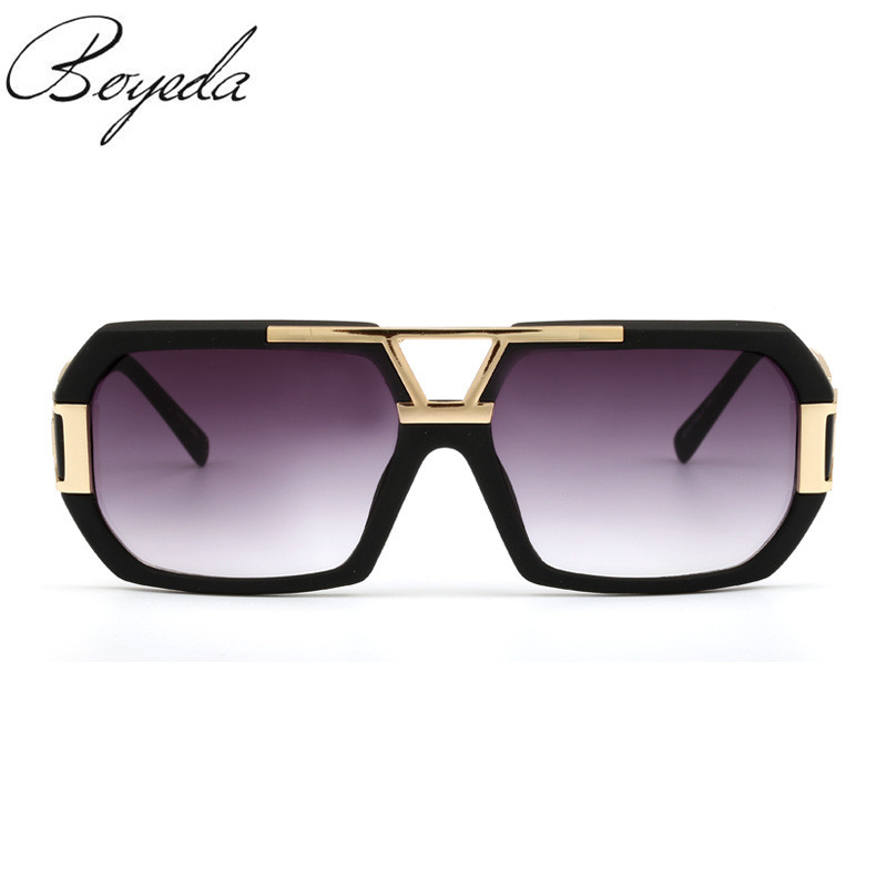 2016 Michelle Flat Top Men Glasses Frame Brand Designer Square Metal Gold Sunglasses For Men Optical Mirror Sun Glasses Male(China (Mainland))