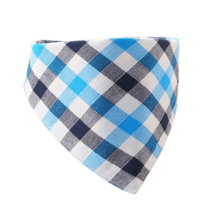 Plaid Cotton Gentleman baby boy bandana bibs children's bib head scarf baby saliva bibs mom's care bibs bandanas kids scarves(China (Mainland))