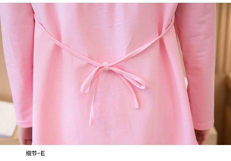 2016เกาหลีขนาดใหญ่ผู้หญิงแต่งตัวสบายๆแขนยาวลายชุดเสื้อแฟชั่นเสื้อยืดขนาดยาวบางBottoming M-XL AB33 ถูก
