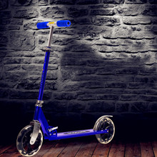 Buy 2 Wheel Scooter Adults Kids Folding Portable Riding Bicycle Aluminum Height Adjustable Load 100KG Silver white, black for $104.23 in AliExpress store