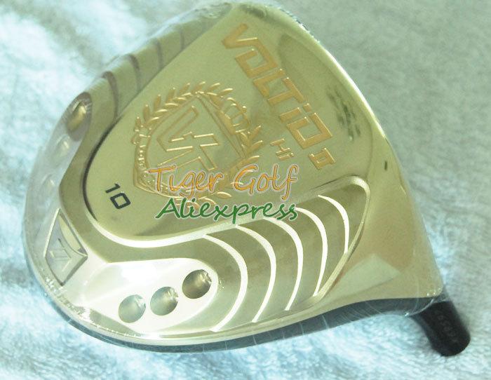 Здесь можно купить  New High quality golf head KATANA VOLTIO HI II driver head 9/10 loft with gold color golf driver head(no shaft) Free shipping  Спорт и развлечения