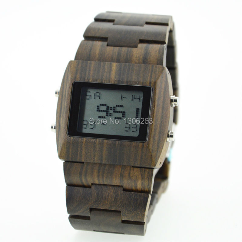 46mm big size for wood watches 2014 top luxury