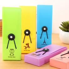 Милый пенал корейский конфеты цвет прорезиненная тесьма пвх пенал школа поставки ручка коробка дети симпатичные канцелярские