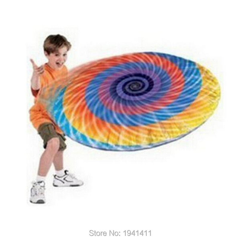 1pcs Hover Disc Rainbow Aluminum Inflatable Frisbee Flying Disk Baby Children Great Outdoor Toy(China (Mainland))