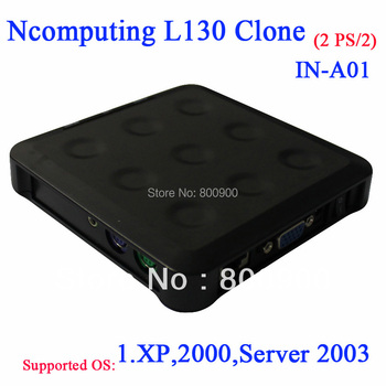 Ncomputing L130 clone NC130 pc share with PS/2 turn one into 30 users thin client kit include terminal box 5V 2A power supply