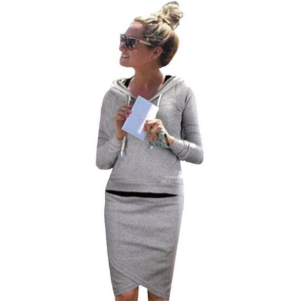 Hoodies Suit Women Baseball Jacket Casual Sweat Skirt Suits Sport Sweatshirt Tracksuits Hooded Sportsuit - WE ARE NO.1 store