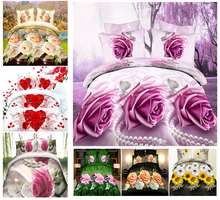 fast shipping! 3D bedding set,Reactive printed 3D bed set, King size, high quality!(China (Mainland))