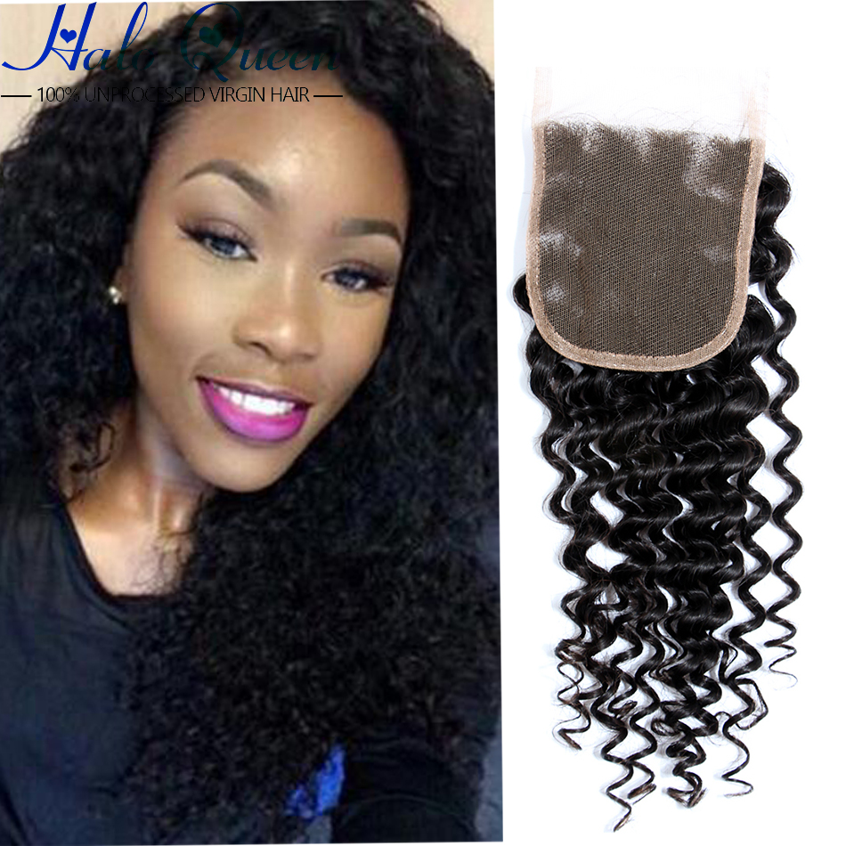 16 Inch Malaysian Deep Wave Closure 6a Unprocessed Virgin Hair Malaysian Closure Deep Wave Jk Lace Closure Queen Hair Store(China (Mainland))
