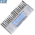 TASP 20 Pieces Tungsten Carbide Rotary Burrs Set for Dremel Accessories Milling Cutter Drill Bit Engraving
