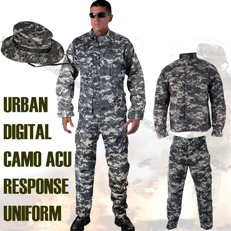 us urban digital camouflage suit set bdu military uniform paintball suit hunting combat uniform. Black Bedroom Furniture Sets. Home Design Ideas