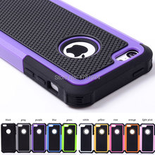 For 5C Surprise! Heavy Shock Proof Shell Cover Rugged Hybrid hollow Case For iPhone 5C Armour 2 in1 Phone Back Cover 10 colors(China (Mainland))