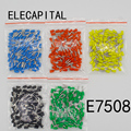 E7508 100PCS Pack Tube insulating Insulated terminals 0 75MM2 Cable Wire Connector Insulating Crimp Terminal Connector